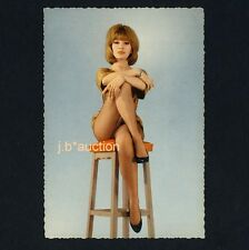 French Actress in Fishnet Hose DANY SAVAL Schauspielerin Pin-Up * AK um 1950 PC