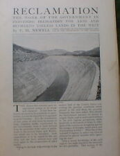 Irrigation  in West Dam Canal 1906 Nevada Colorado