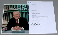CBS Bob Schieffer Face The Nation Proof Signed Photo With Letter