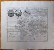 Mortier: Large Decorative Map of the World Insular California Australia - 1729