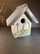 Wooden Handpainted  Bird House Handmade Never Used Outside Used