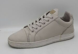 Mens Glorious Gangsta Size 7UK Stone White Synthetic Sneakers/Trainers Laced VGC