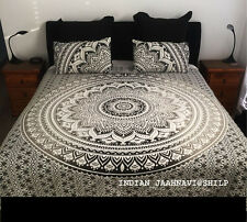 Indian Bohemian Queen Quilt 2 pillow Cover  Mandala Hippie Blanket Decor New