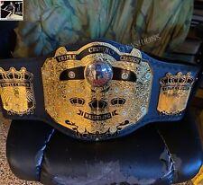 NWA Triple Crown Wrestling Championship Leather Belt Adult Size