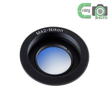 M42-AI M42 Lens to Nikon AI F Mount Camera Adapter with Glass Focus to Infinity