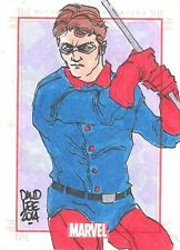 Marvel 75th Anniversary SketchaFEX Winter Soldier Color Sketch Card David Lee