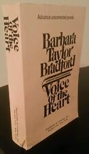 Barbara Taylor Bradford - Voice of the Heart 1983 Advance Uncorrected Proofs ARC