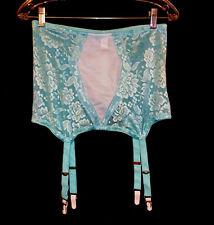 XL 32 34 Sheer Silky Stretch Lace Nylon Spandex Open Girdle Garter Belt