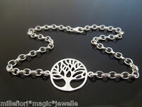 """Sterling Silver Bracelet Or Ankle Chain Anklet Tree Of Life 7"""" 8"""" 9"""" 10"""" 11"""" 12"""""""