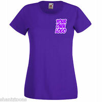 Ladies Womens Lady Fit Purple T Shirt Personalised Text Logo Design