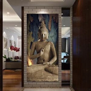 Modern Canvas Wall Art Panel of Stone Buddha for your Living Room Size L