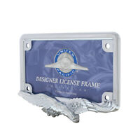 United Pacific Chrome Eagle Motorcycle License Plate Frame, Universal Variations