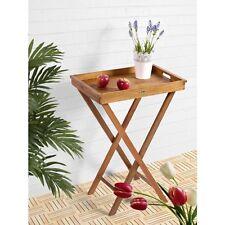 DELHI Gartentisch Klapptisch Bistrotisch Balkontisch Holztisch 60x40cm Tablett