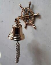 Door Bell Wall Hanging Mount Nautical Brass Ship Chakra Clamp Brass Gift Decor