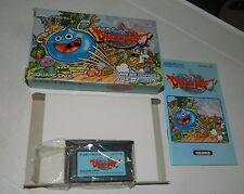 Dragon Quest Slime Morimori for Game Boy Advance GBA Japan COMPLETE
