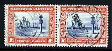 SOUTH WEST AFRICA KG V 1927-30 3d. Bilingual Pair Overprinted S.W.A. SG 61 VFU