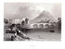Ballina , River Moy County Mayo, IRELAND Antique 1840