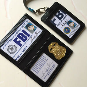 Detectiv Conan FBI Agent Shuichi Akai Cosplay Black Faux Leather ID Card Holder