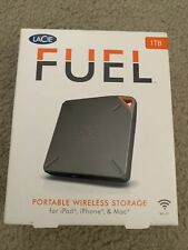 LaCie Fuel Wireless Wi-Fi 1TB HDD Portable External HD USB 3.0 Opened Box unused