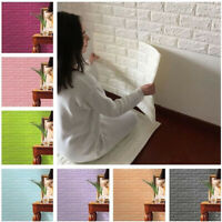 EE_ 60x30cm 3D Brick Pattern Wallpaper Bedroom Living Room Wall Sticker Decor In