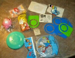 Lot 15 Kellogg's Cereal Tang Toys Pokemon,Kooky Doodles,Big Bird,Snack Container