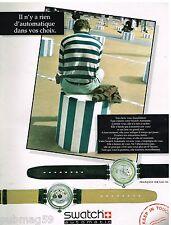 Publicité Advertising 1992 Les Montres Swatch Automatic