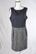 Gap Womens Dress 14 Fit Flare tweed skirt lined sleeveless (Q)
