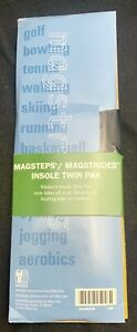 NIKKEN MAGSTRIDES TWIN PACK MAGNETIC INSOLES #2025 MEDIUM NEW SEALED