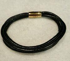 Endless bracelet by J LO 7.0' silver splash 3 strand leather charm. Retail 60$