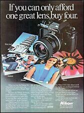 1985 Nikon 35-70mm zoom lens camera photographs vintage photo Print Ad ads17