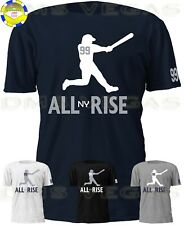 New York Yankees Aaron Judge All Rise NY Jersey Tee T Shirt Shadow Men S-5XL
