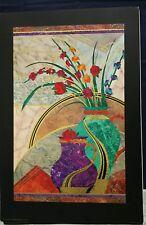 Poster w/Gold Accent Black Border - Marble Gladiolas Floral - Prestige Graphics