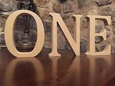 ONE, 13cm Large Letters Spelling ONE, 1st Birthday Decoration, Wooden ONE, First