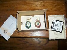 1993 Faberge Egg Jeweled Holiday Ornaments 24K Accent Franklin Mint