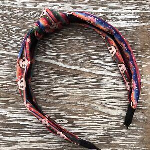 Frida Khalo Arch Headband, Hard Headband, Knot Fabric, Rainbow