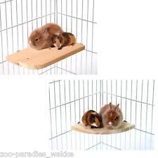 WONDERLAND Sitzecke und Sitzboard / Holz Etage, Ecketage für Nager