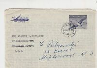 czechoslovakia 1961 airmail stamps cover ref 19664
