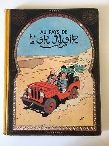 Tintin au pays de l'or noir - Tintin - Hergé - Paris, 1950 eo ancien