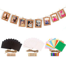 "10PCS DIY Paper Photo Wall Picture Hanging 4"" Frame Album Rope Clip Decoration"