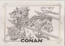 Conan Art of the Hyborian Age - Dan Day SketchaFEX Sketch Card