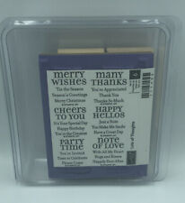 Stampin Up LOTS OF THOUGHTS Stamps, happy hellos, many thanks, merry wishes New