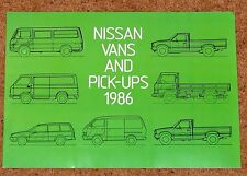 1986 NISSAN VANS & PICKUPS Sales Brochure - New Old Stock!! Vanette Urvan Trade