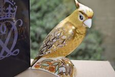 """Royal Crown Derby Paperweight """"CITRON COCKATOO""""  1st Quality & Gold Stopper"""