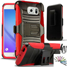 RD Samsung Galaxy Note 5 Hybrid Rugged Holster Case Cover Belt Clip +P