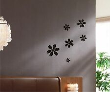 Flowers Wall Decal set art decor removable stickers mural art nature set 01