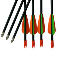 "12Pcs Children Arrows Archery Fiberglass Arrows Target Youth Practice Gift 28"""