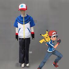 Ash Ketchum cosplay  Pokemon Pocket Monster BW-Ash Katchum cosplay costume
