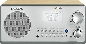 Sangean HDR-18 HD Radio/FM-Stereo/AM Wooden Cabinet Table Top Radio,OPEN BOX