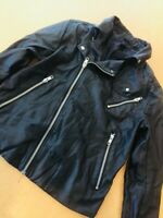 H&M BLACK LEATHER MENS JACKET SIZE SMALL