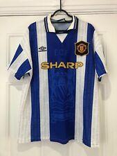 1994-96 Manchester United Third Shirt - Large -*Cantona 7 On Back*